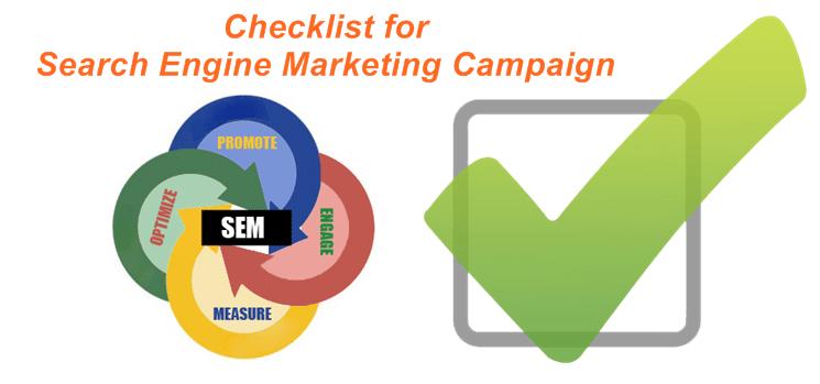 checklist for search engine marketing campaign